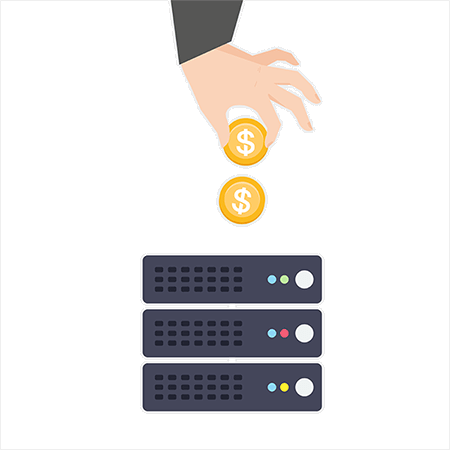 Server with coins